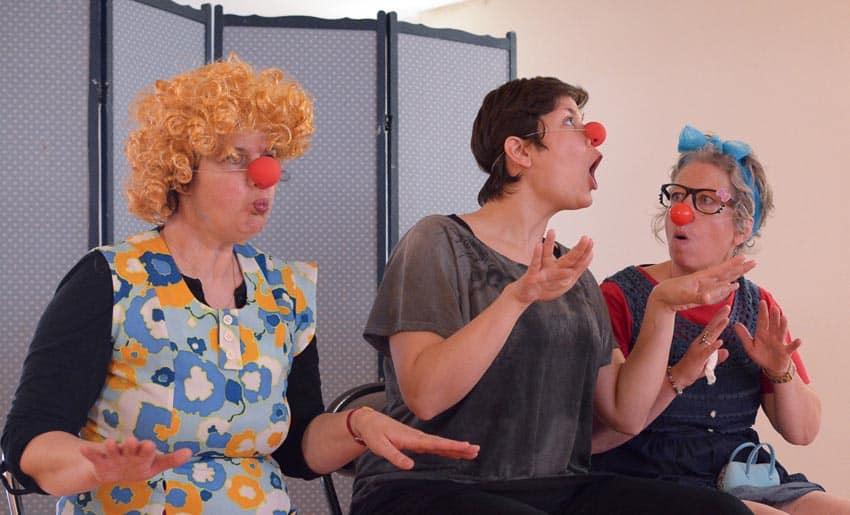 Participantes stage clown