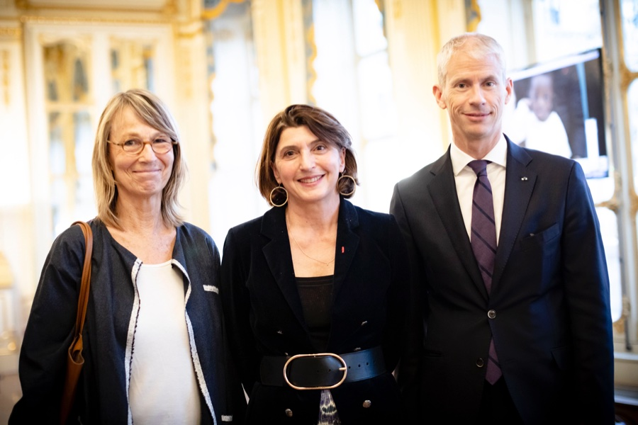 Franck Riester - Françoise Nyssen - Sophie Marinopoulos